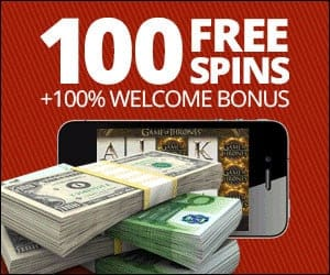 100 FREE SPINS in Roxy Palace Casino